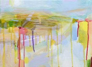 Ruth le Cheminant Landscape 1 2015 acrylic on canvas 30x40cm