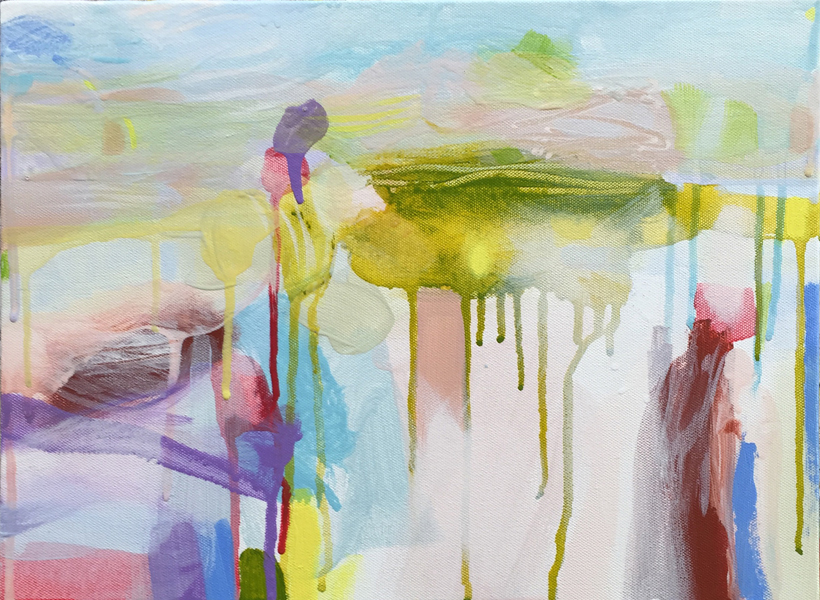 Ruth le Cheminant Landscape 2 2015 acrylic on canvas 30x40cm