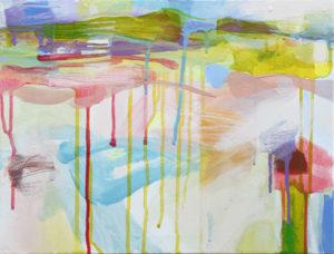 Ruth le Cheminant Landscape 3 2015 acrylic on canvas 30x40cm