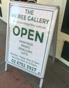 Ruth le Cheminant now at the Moree Gallery