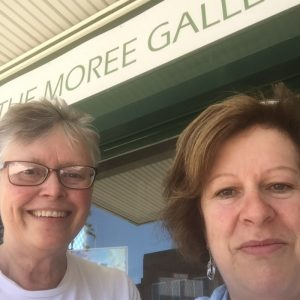 Ruth le Cheminant of The Loaded Brush and Gig Moses of The Moree Gallery