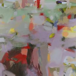 Ruth le Cheminant Bush Layers and Textures 2015 acrylic paint on canvas 90x90cm