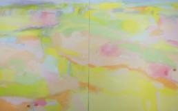 Ruth le Cheminant Escarpments Early Spring 2014 acrylic paint on canvas 120x200cm