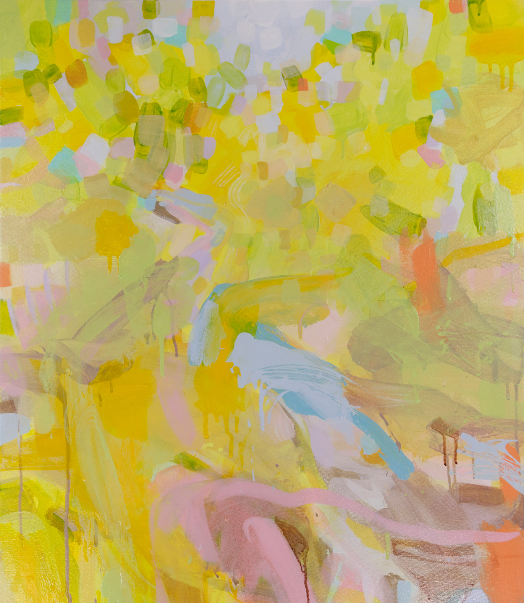 Ruth le Cheminant Sunshine in Rozelle Street Wentworth Falls 2015 acrylic paint on canvas 80x70cm