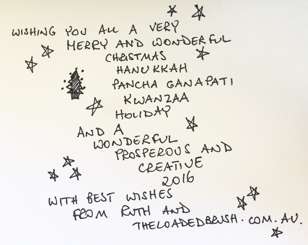 Season Greetings From The Loaded Brush Ruth Le Cheminant The