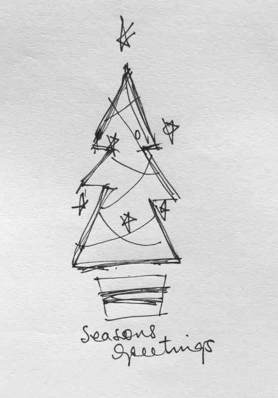 Wishing you the seasons greetings for 2015 from Ruth le Cheminant and The Loaded Brush.