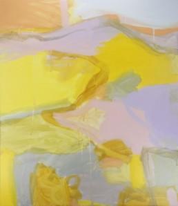 Ruth le Cheminant Immediate Landscape 2016 acrylic paint on canvas 80x70cm