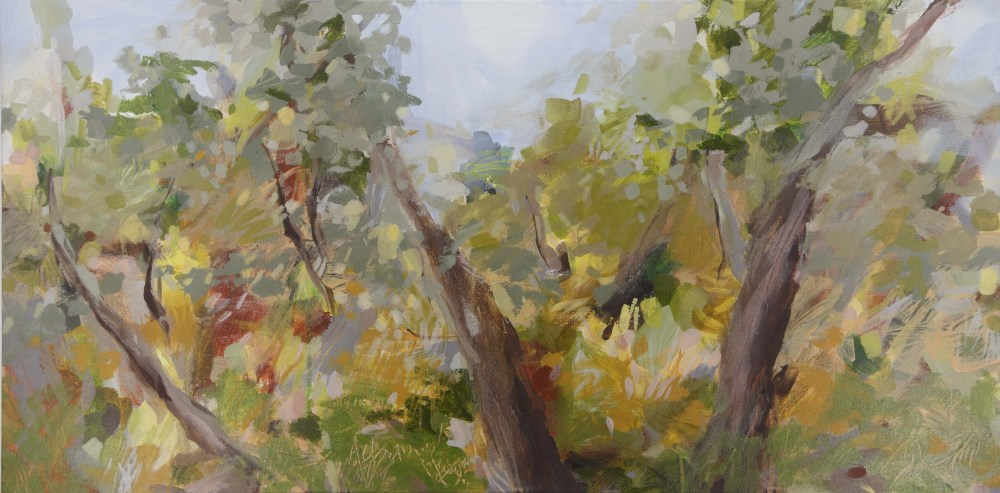 Ruth le Cheminant Looking Through the Bush 12016 acrylic paint on canvas 46x92cm