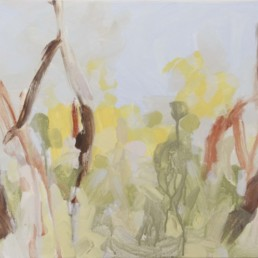 Ruth le Cheminant Looking Through the Bush 2 2016 acrylic paint on canvas 46x92cm