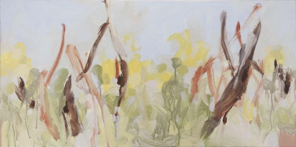 Ruth le Cheminant Looking Through the Bush 2 2016 acrylic paint on canvas 46x92cm