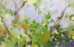 Ruth le Cheminant Looking Through the Bush 3 2016 acrylic paint on canvas 50x76cm