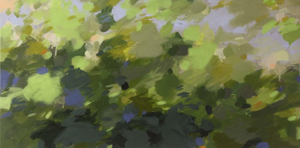 Ruth le Cheminant Looking Through the Bush 4 2016 acrylic paint on canvas 38x76cm