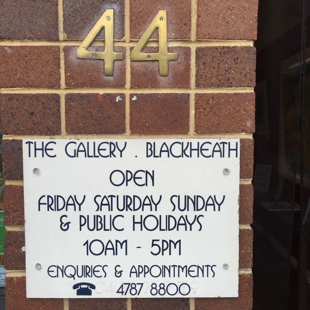 Ruth le Cheminant is a partner at Gallery Blackheath 44 Govetts Leap Road, Blackheath