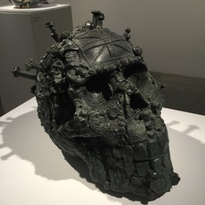 Head of a Fallen Giant in cast bronze