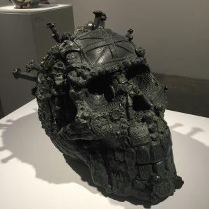Head of a Fallen Giant in cast bronze