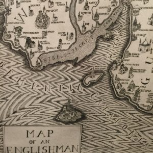 Detail of the etching Map of an Englishman