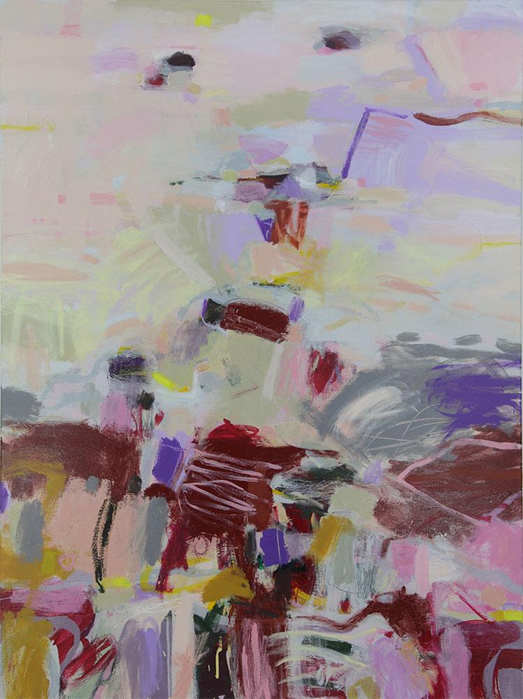 Ruth le Cheminant Murray Sunset Landscape 2014 acrylic paint on canvas 120x90cm