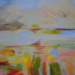 Ruth le Cheminant Remembering Coles Bay 1 Acrylic paint on canvas 2013 90x90cm
