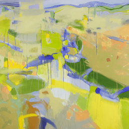 Ruth le Cheminant Canola 2017 acrylic on canvas 91cmx102cm