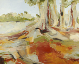 Ruth le Cheminant Darling River Evandale 2017 acrylic on canvas 100cm x 120cm