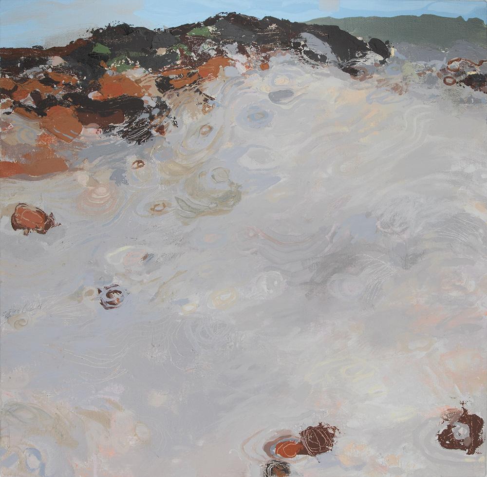 Ruth le Cheminant Escarpment at Lincolns Rock 2017 acrylic paint on canvas 76cm x 76cm