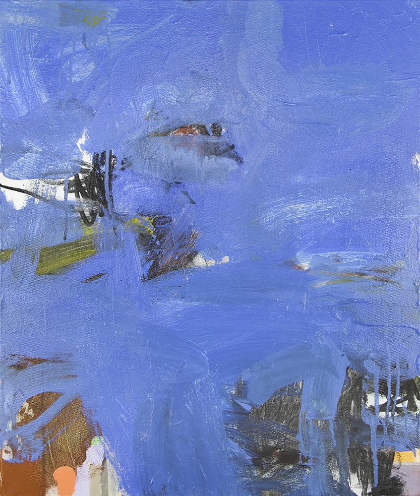 Ruth le Cheminant Tidal 2018 acrylic paint & charcoal on canvas 61cm x 51cm
