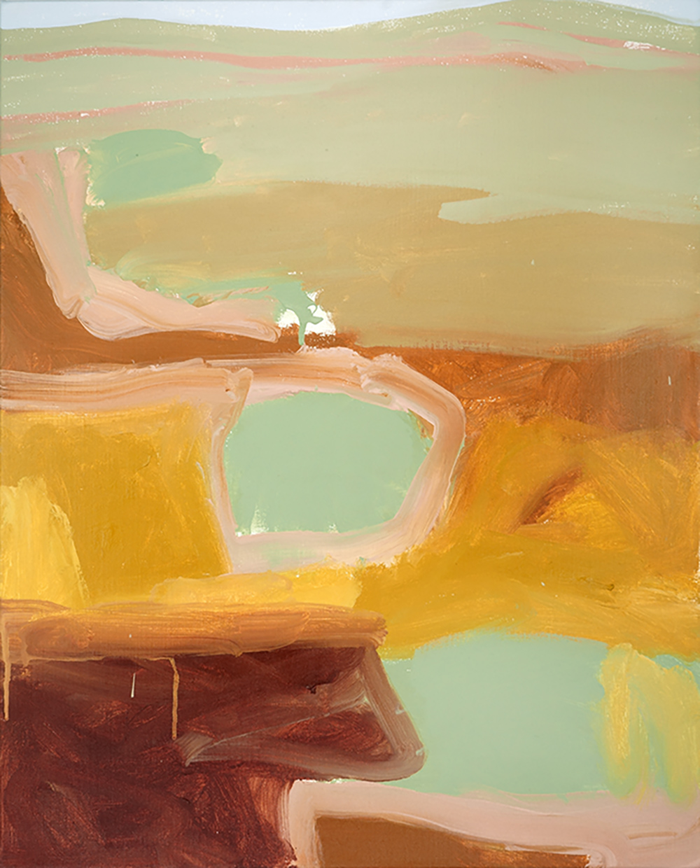 Ruth le Cheminant Drought Country 2018 acrylic paint on canvas 76x61cm