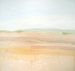 Ruth le Cheminant Liverpool Plains 2018 acrylic paint on canvas 91x91cm