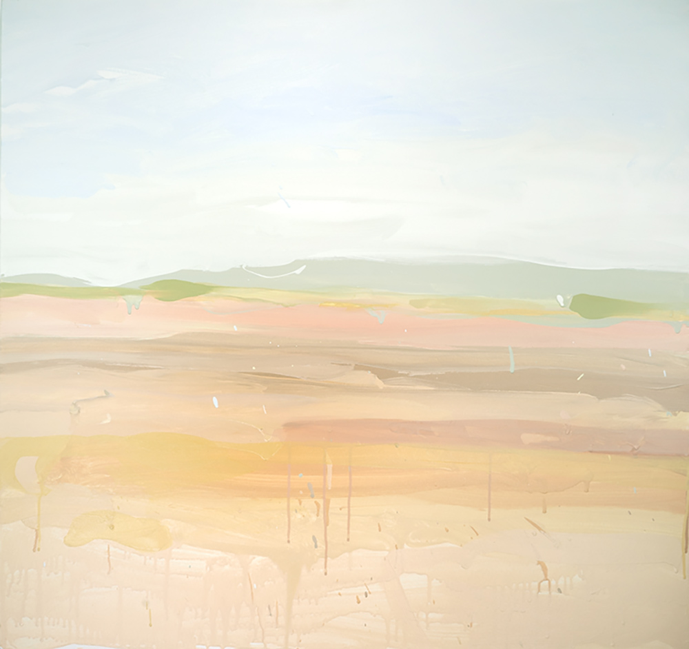 Ruth le Cheminant Liverpool Plains 2018 acrylic paint on canvas 91x91cm