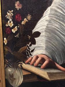 Michelangelo Merisi aka Caravaggio detail portrait of Maffeo Barberini