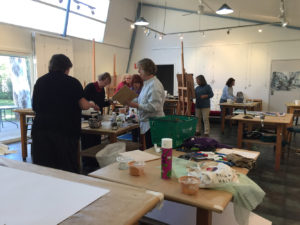 Letting Go workshop by Ruth le Cheminant May 2018 at Blackheath Art Society