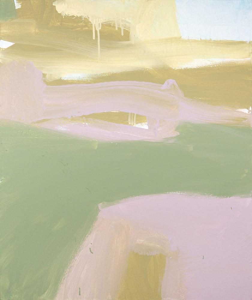 Ruth le Cheminant A Shimmer of Light on the Horizon 2018 acrylic on canvas 60cm x 50cm