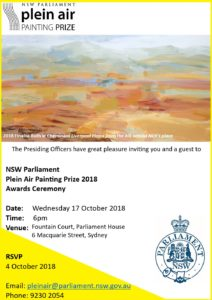 When the Plein Air Invitation as a finalist rrives and my painting is used on the invitation you get to feel chuffed