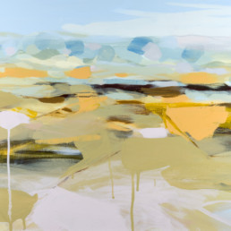 Ruth le Cheminant Liverpool Plains in winter 2 2018 acrylic on canvas 46cm x 51cm