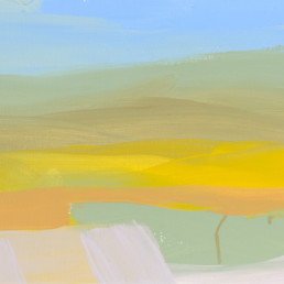 Ruth le Cheminant Summer Horizons 2018 acrylic on canvas 30cm x 60cm
