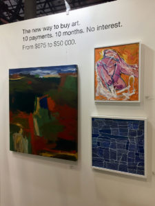 Artists were able to liaise with Art Money while at TOAF 2019 and they featured my painting as well