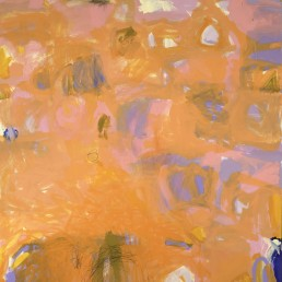 Ruth le Cheminant When All Else Fails Paint 2019 acrylic and pencil on canvas 120x110cm