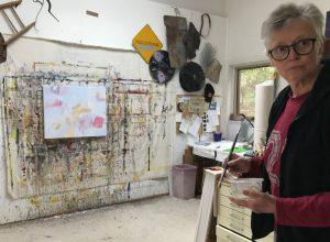 Ruth le Cheminant in the studio 1
