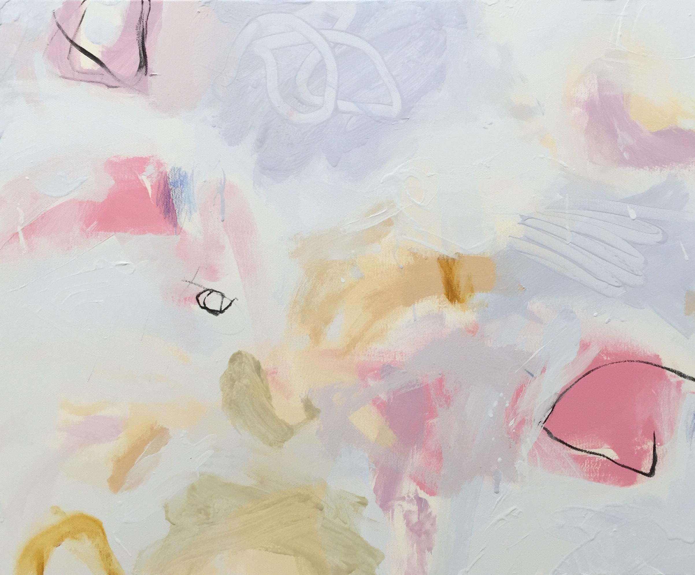 Ruth le Cheminant Covid19 1 acrylic on canvas 62cmx77cm