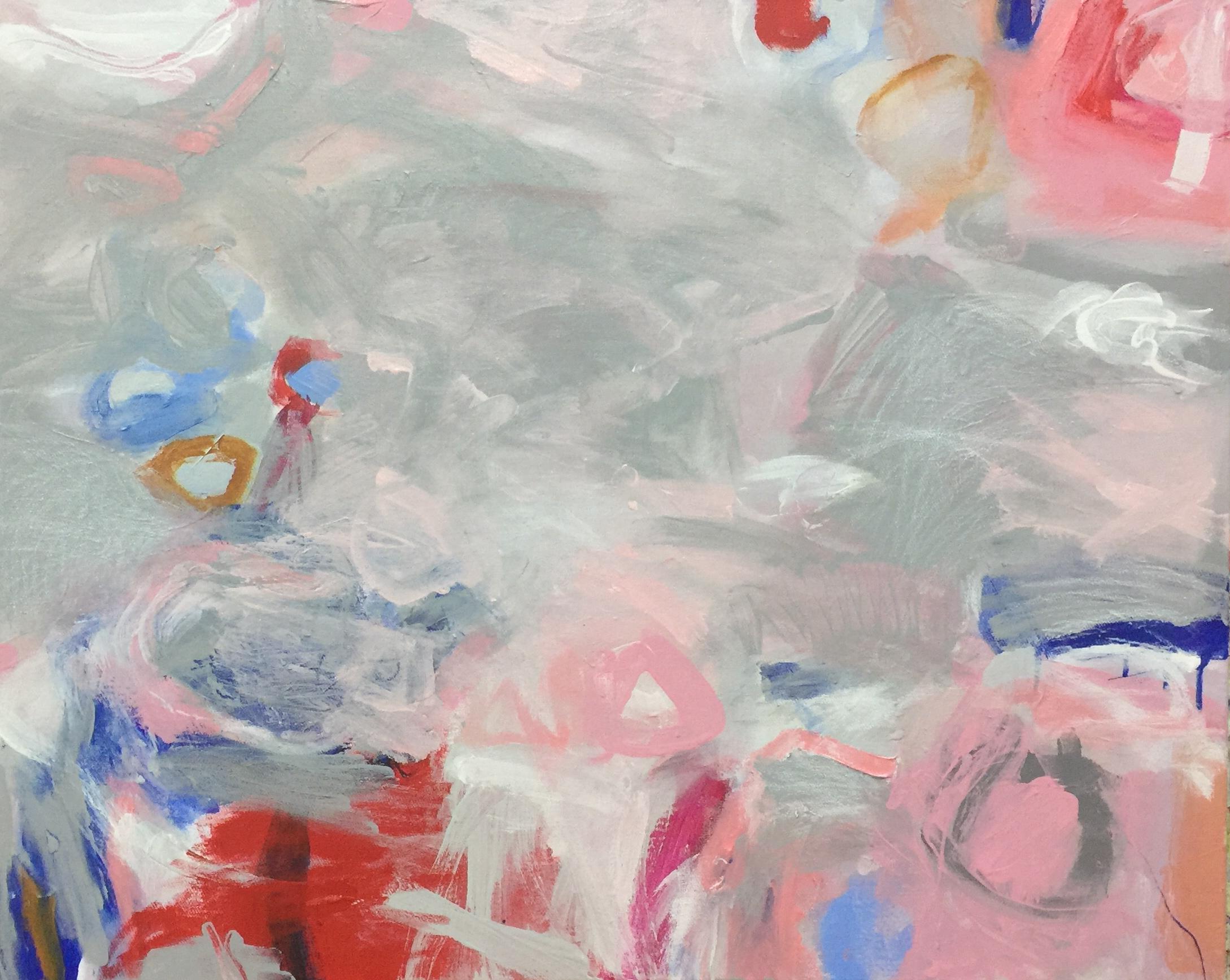 Ruth le Cheminant Covid19 2 acrylic on canvas 62cm x 77cm