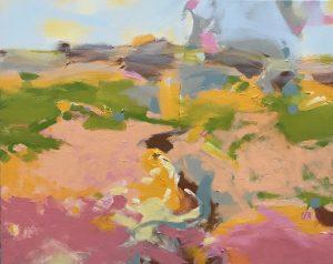 Ruth le Cheminant Covid19 series Painting 3 -The Path Ahead acrylic paint on canvas 62cm x 77cm