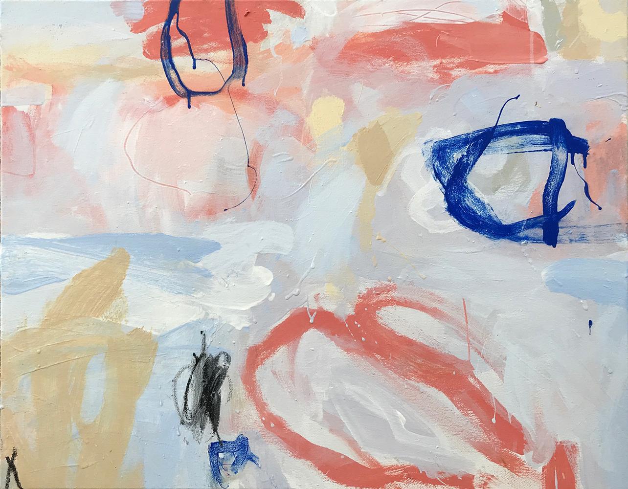 Ruth le Cheminant Covid19-4 acrylic paint on canvas 62cm x 77cm