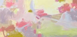 Ruth le Cheminant Covid19-5 acrylic paint on canvas 62cm x 122cm
