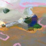 Ruth le Cheminant Covid19 Painting 9 acrylic and pencil on canvas 51cm x 46cm