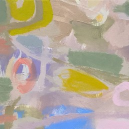 Ruth le Cheminant Covid19 Painting 6 2020 acrylic on canvas 30cm x 60cm