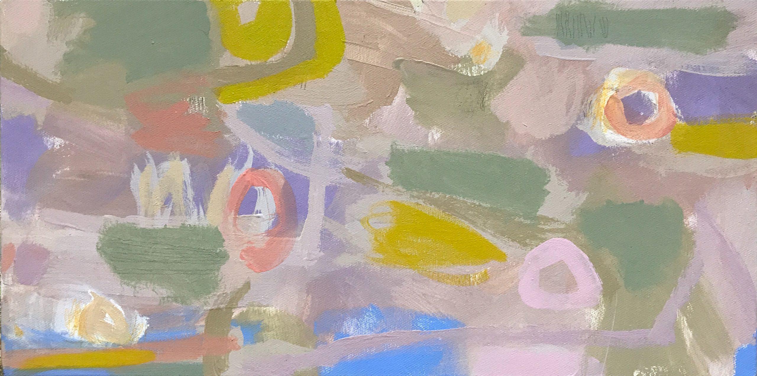 Ruth le Cheminant Covid19 Painting 6 2020 acrylic on canvas 30cm x 60cm