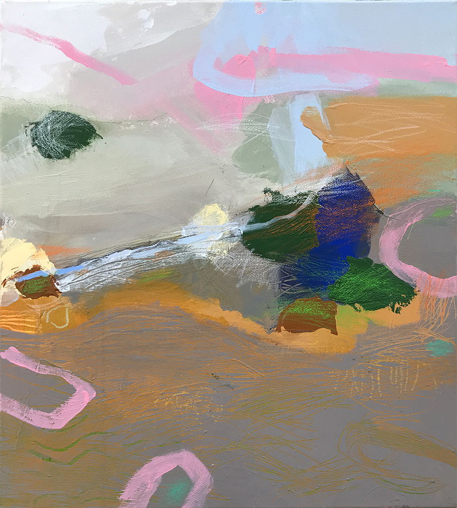 Ruth le Cheminant Covid19 Painting 9 2020 acrylic and pencil on canvas 51cm x 46cm final edit