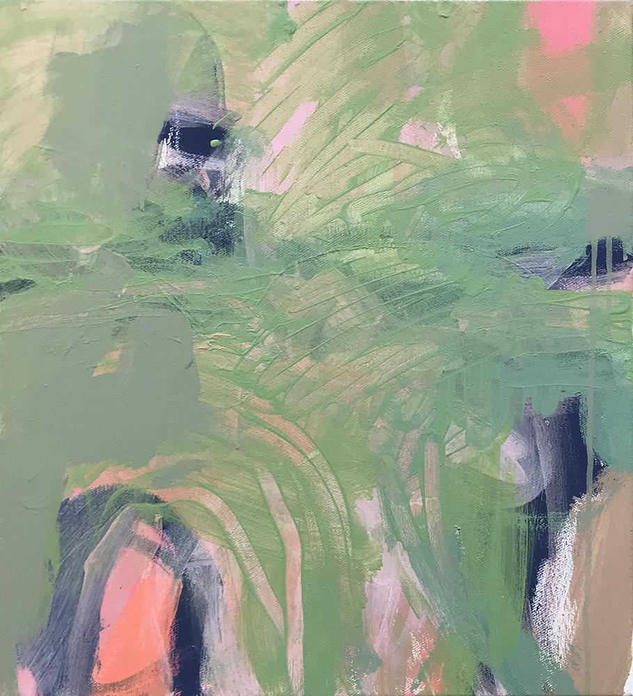Ruth le Cheminant Covid19 Painting 14 2020 acrylic on canvas 51cm x 46cm