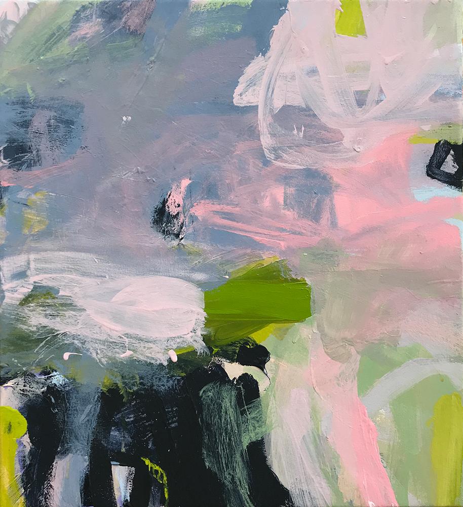 Ruth le Cheminant Covid19 Painting 15 2020 acrylic on canvas 51cm x 46cm