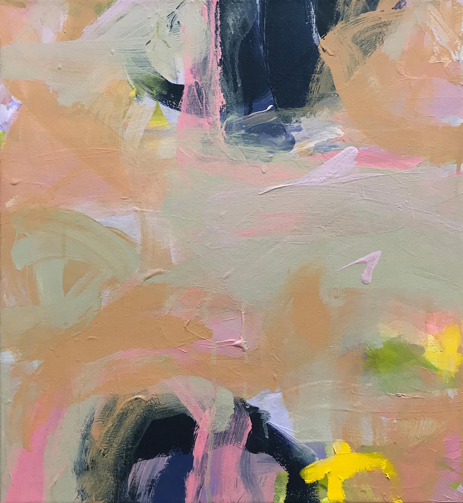 Ruth le Cheminant Covid19 Painting 17 2020 acrylic on canvas 51cm x 46cm